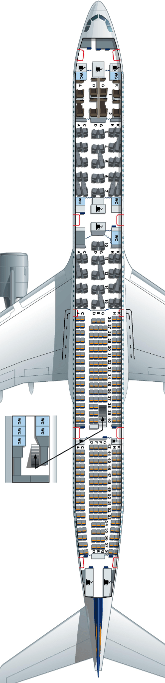 A340_600 seat map