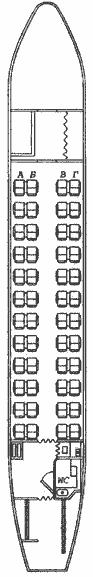 Antonov An-24 seat map
